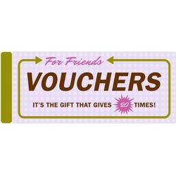 Vouchers for Friends Coupon Book
