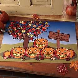 Our Family Pumpkin Patch Personalized Doormat