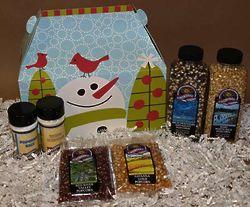 Popcorn Snowman Gift Box