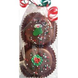 Christmas Decorated Chocolate Oreo Cookies