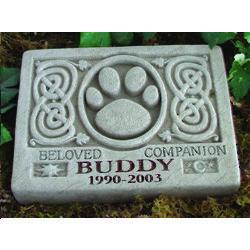 Personalized Celtic Pet Memorial Stone