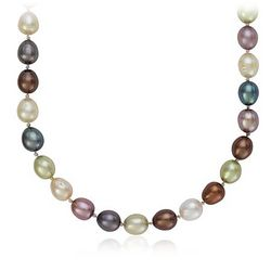 Aurora Oval Freshwater Cultured Pearl Necklace