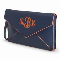 Navy Envelope Clutch