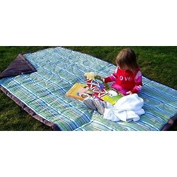 Water-Resistant Earth Stripe Picnic Blanket