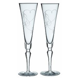 Love Story Champagne Flute Glasses