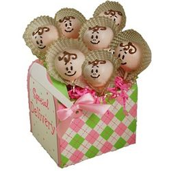 Baby Face Hand-Decorated Mini Cake Pops