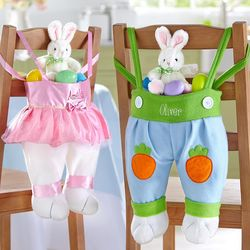 Personalized Bunny Legs Easter Basket