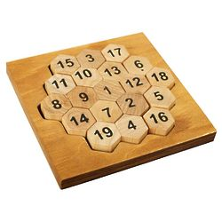 Aristotle's Number Wooden Puzzle and Math Brain Teaser