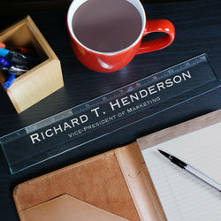 Personalized Executive Glass Ruler