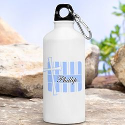 Personalized Blue God Bless Water Bottle