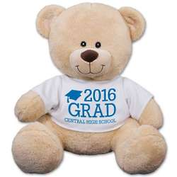 "Personalized 11"" Teddy Bear with Grad Cap Tee"