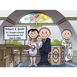 Baptism Personalized Cartoon