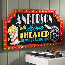 Personalized Home Theater 3-D Sign