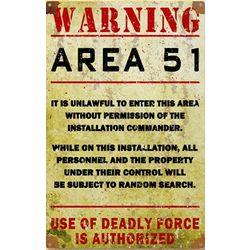 Area 51 Metal Sign