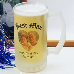 Frosted Glass Personalized Beer Stein