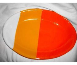 Fused Glass Candy Corn Bowl