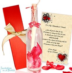 Personalized Romantic Message in a Bottle