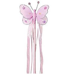 Glimmering Fairy Wand with Butterfly Tip and Streamers