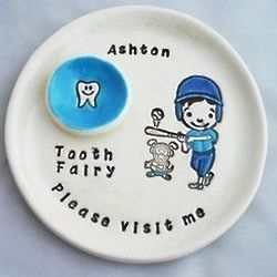 Personalized Baseball Tooth Fairy Plate