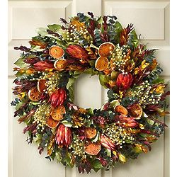 Indian Summer Preserved Wreath