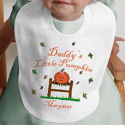 Personalized Little Pumpkin Halloween Baby Bib