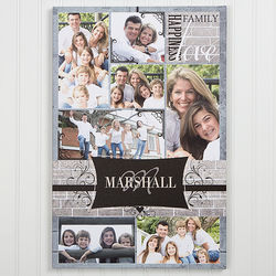 Family Memories 16x24 Personalized Photo Collage Canvas Art