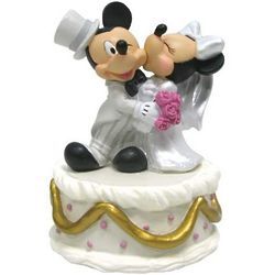 Mickey and Minnie Mouse Bride and Groom Musical Disney Figurine