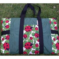 Ladybugs Picnic Blanket with Carry Bag