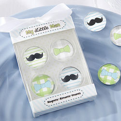 My Little Man Mustache & Bowtie Magnets