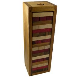 Jumbling Tower Triple Color Classic Wooden Game