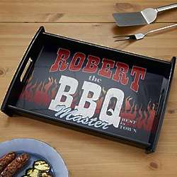 Personalized BBQ Master Serving Tray
