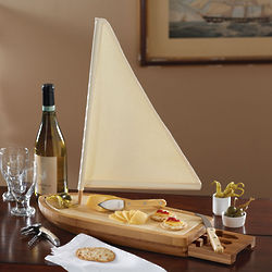 Sailboat Cheese Board Set