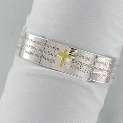 Serenity Prayer Cross Bracelet