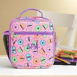 Personalized Girl's Playful Print Lunch Box