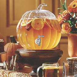 2-Gallon Glass Pumpkin Beverage Dispenser