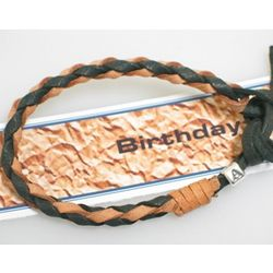 Leather Birthday Bracelet