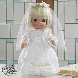 Personalized First Holy Communion Blonde Doll