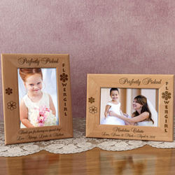 Personalized Perfectly Picked Flower Girl Wooden Picture Frame