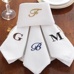 Personalized Dinner Napkins with Monogram