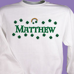 Shamrocks Irish Personalized Sweatshirt