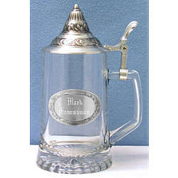 Conical Lid Glass and Pewter Stein