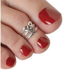 Sterling Trinity Knot Toe Ring