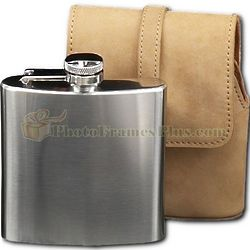 Stainless Steel Flask in Suede Case