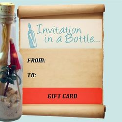 Invitation in a Bottle Gift Certificate