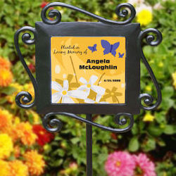 Personalized In Loving Memory Garden Stake