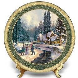 Thomas Kinkade At Winter's Gate 2012 Holiday Collector Plate