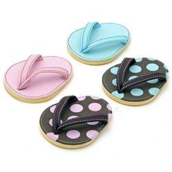 Pink Polka Dot Flip Flop Coasters