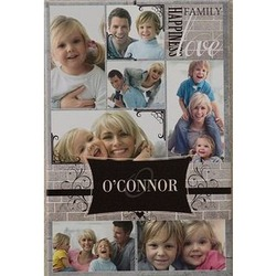 Family Memories 12x18 Personalized Photo Collage Canvas Art