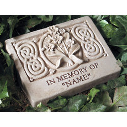 Personalized Wild Orchid Memorial Stone