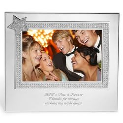 Silver Star Bling Picture Frame